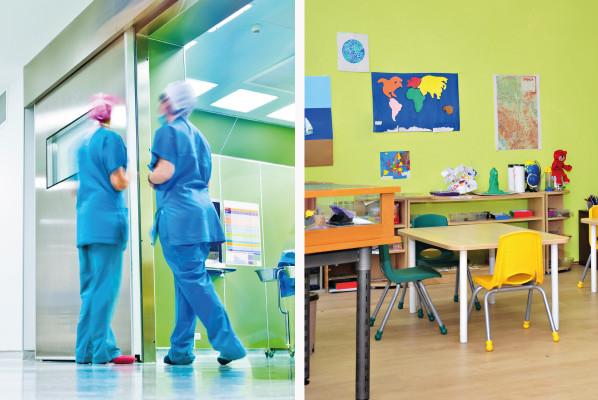 Instal·lació en col·legis i hospitals