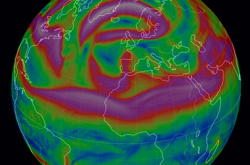 temperatures jet stream